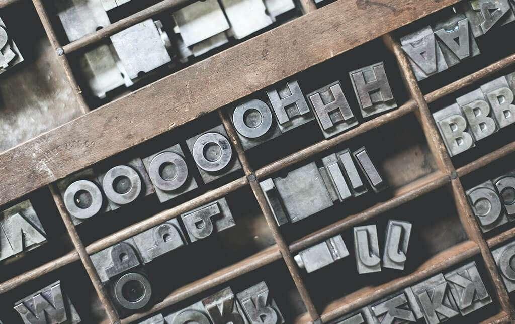 tipografia servizi vintage